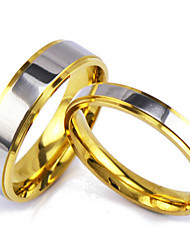 Men's Silver Gold Couple Alloy Band Ring