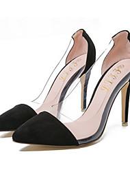 Черный / Синий / Красный-Женский-На каждый день-Флис-На шпильке-На каблуках-Обувь на каблуках