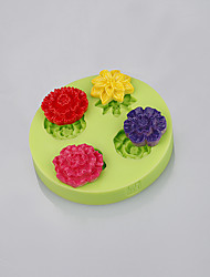 Rose shape fondant cake silicone mold muffin pan pendant silicone mold cake decoration tools