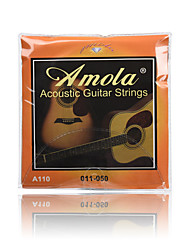 Amola A110 011-050 Pure Copper Acoustic Guitar Strings For Wooden guitar
