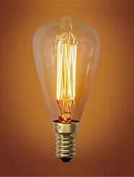 ST48 E14 40W Incandescent Vintage Light Bulb for Household Bar Coffee Shop Hotel (AC220-240V)