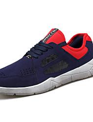 Femme-Extérieure / Décontracté / Sport-Noir / Bleu / Noir et rouge-Talon Plat-Ballerines-Chaussures d'Athlétisme-Daim