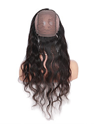 Brazilian Virgin Human Hair 360 Lace Band Frontal Closures Water Wave Ear To Ear 360 Lace Frontal Closures With Baby Hair