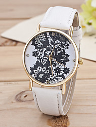 Women's Multicolor Black Flower Gold Shell Belt Fashion In Geneva Quartz Watch
