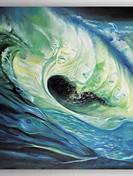Oil Painting Landscap Surfing Hand Painted Canvas Painting with Stretched Framed Ready to Hang