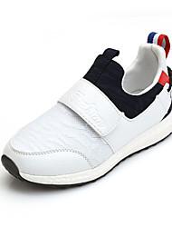 Fille-Sport-Noir / Rouge / Blanc-Talon Plat-Confort / Bout Arrondi-Sneakers-Tulle