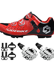 SD001 Cycling Shoes Unisex Outdoor / Mountain Bike Black / Red-sidebike And PD-M520 Lock Pedals