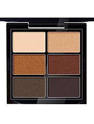 6 Paleta de Sombras Secos Paleta da sombra Pó Normal Maquiagem para o Dia A Dia