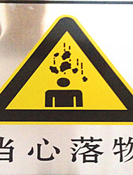 Beware Of Falling Objects Shelf Placards Warning Signs Safety Signage Custom Made AluminumPlate
