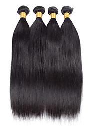 4 Stück Gerade Menschliches Haar Webarten Peruanisches Haar 100grams 8inch to 30inch Haarverlängerungen