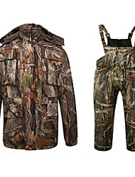 Winter Fleece Down Cotton Warm Parker Camouflage Hunting Wader Waterproof Camo Hunting Clothing Suits