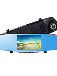 5 Inch Rear View Mirror Driving Recorder Dual Lens 1080P HD Night Vision