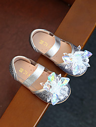 Girl's Flats Spring Fall Leatherette Outdoor Flat Heel Flower Pink Silver Other