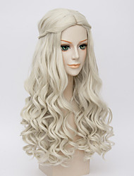 Movice White Queen Cosplay Halloween Natural Wave Costume Wigs Anne Hathaway's Wig