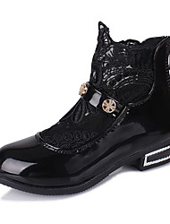 Girl's Boots Winter Comfort / Round Toe PU Casual Low Heel Others / Chain Black / Pink / White Others