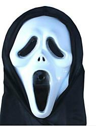 máscara de Halloween adereços terror diabo monolítica máscara de esqueleto grito