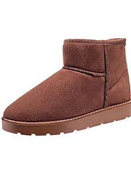 Women's Boots Winter Snow Boots PU Casual Flat Heel Slip-on Black / Brown / Coffee Others