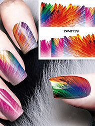 impression de mode d'impression couleur de transfert d'eau de mise au point de motif ongles autocollants