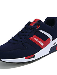 Women's Sneakers Spring / Fall Comfort / Round Toe PU Athletic Flat Heel Lace-up Blue / Red / Black an
