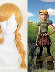 Anime Cosplay Wig How to Train Your Dragon Astrid Braiding Hair Long Braid Golden Heat Resistant Synthetic Wig