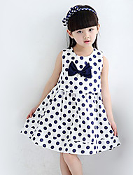 Girl's Casual/Daily Polka Dot DressPolyester Summer Blue / Red / White