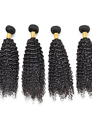 Curly Human Hair Weaves Brazilian Texture 100 8-26 Human Hair Extensions