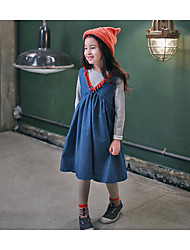 Girl's Casual/Daily Solid ShirtCotton Spring / Fall Blue