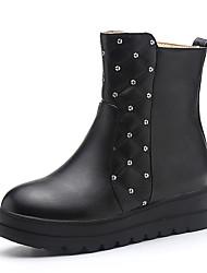 Women's Boots Winter Snow Boots / Bootie Dress Platform Zipper Black / White Others
