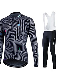 Sports® Cycling Jersey with Bib Tights Women's / Men's / Unisex Long SleeveBreathable / Quick Dry / Moisture Permeability / Sweat-wicking