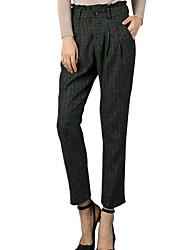 Spring/Fall Casual/Work Women's Pants Slim Multi Pocket Striped Loose Harem Pants