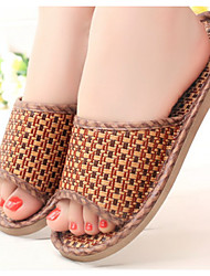 Men's Slippers & Flip-Flops Summer Slingback Synthetic Casual Flat Heel Others Brown Others