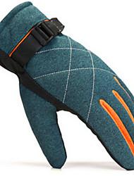 gants chauds hommes d'hiver en plein air vélo ski et peluche vent plus épais froid gants de moto chaudes