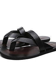 Girls' Slippers & Flip-Flops PU Summer Casual Buckle Flat Heel White Black Brown Flat