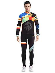 Sport Fahrradhosen Herrn Langärmelige Fahhrad Atmungsaktiv / Rasche Trocknung / Komfortabel Kleidungs-Sets/Anzüge Vlies Klassisch Sommer
