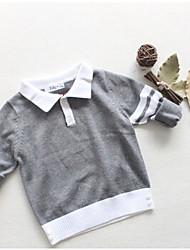 Mädchen Pullover & Cardigan-Lässig/Alltäglich Gestreift Baumwolle Winter Weiß