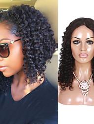 Mongolian Virgin Human Hair Wigs Curly Lace Front Wigs Middle Part Lace Front Human Hair Wigs For Women