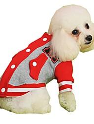 Katzen / Hunde Mäntel / Kapuzenshirts / Pullover Rot / Gelb / Blau / Grau / Rose Hundekleidung Winter / Frühling/Herbst Buchstabe & Nummer