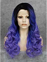 парик шнурка Парики для женщин Фиолетовый Карнавальные парики Косплей парики