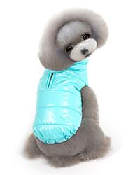 Dog Coat / Jacket Red / Orange / Blue / Gray / Dark Blue Dog Clothes Winter / Spring/Fall Solid Keep Warm / Windproof