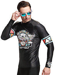Long Sleeve UV Protection Swimwear Men Rashguards Surfing Shirt Diving Snorkeling Swim Tops