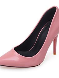 Damen-High Heels-Büro / Kleid / Lässig-Kunstleder-Stöckelabsatz-Absätze / Pumps / Spitzschuh-Schwarz / Rosa / Rot