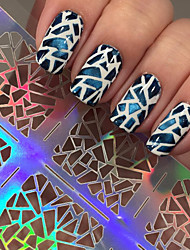 5pcs  Irregular Triangle Pattern Nail Art Manicure Stencil Stickers JV206