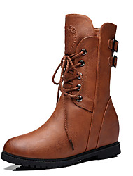Women's Boots Winter Snow Boots Leatherette Outdoor / Casual Flat Heel Others Black / Brown Snow Boots