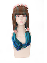 Brown Mixed Color Synthetic Wigs Fashion Women Party Cosplay Wigs