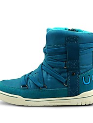 Brand Outlets Boy's Boots Fall / Winter Fashion Boots PU / Suede Casual Flat Heel Zipper / Lace-up Blue Snow Boots