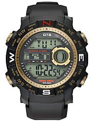 OTS Luxury Brand Mens Sports Dive 50m Digital LED Military Watch Men Fashion Casual Electronics Wrist watches Hot Clock