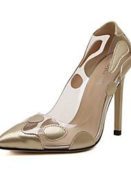 Damen-High Heels-Lässig-PU-Stöckelabsatz-Absätze-Rot / Silber / Gold