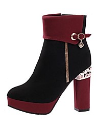 Damen-Stiefel-Outddor-Vlies-Blockabsatz Block Ferse-Modische Stiefel-