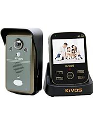 impermeable video portero visión nocturna por infrarrojos inducción del cuerpo pulgadas TFT de 3,5 video inalámbrico de intercomunicación