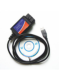 Foreign Trade English USB OBD2 ELM327 Automotive Diagnostic Test Line Plastic Shell